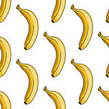 Seamless pattern of  yellow banana