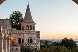 south gate of Fisherman's Bastion in Budapest
