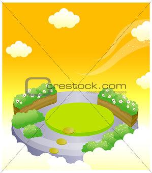 Formal garden in sky