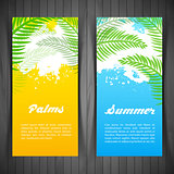 Palm silhouettes card