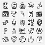 doodle back to school icons