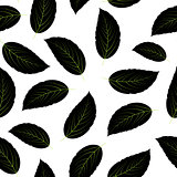 Leaves Seamless Pattern Background Vector Illustration