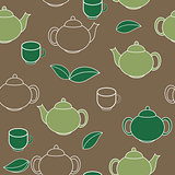 Tea Seamless Pattern Background Vector Illustration