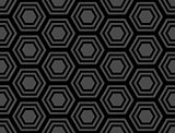 Design seamless monochrome hexagonal pattern