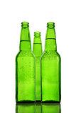 Green beer bottles