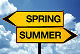 Spring or summer opposite signs
