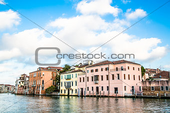 Old Plaster Buildings in Venice Canal