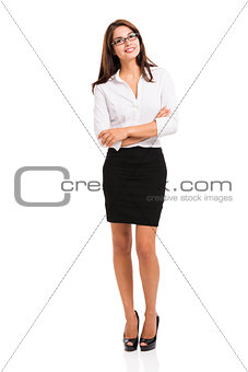 Business woman thinking