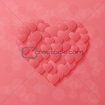 Abstract modern style love background
