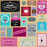 vector set of Happy valentines day cards