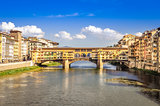 Scenic view of Ponte Vecchio bridge in Florence