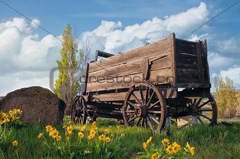 Old Wagon at Farm Ranch