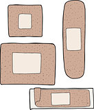 Various Adhesive Bandages