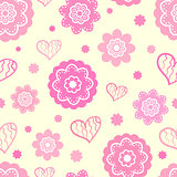 Romantic seamless pattern (tiling)