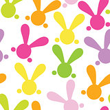 Colorful seamless paterns with easter bunny