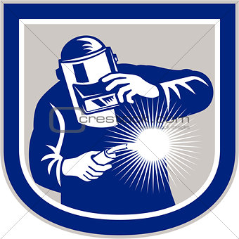 Welder Welding Torch Front Shield Retro