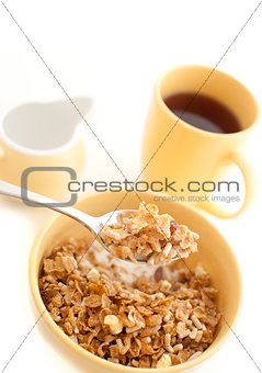 Bowl of healthy muesli for breakfast