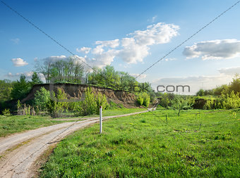 Road near clay hill