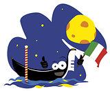 Funny Venetian Gondola