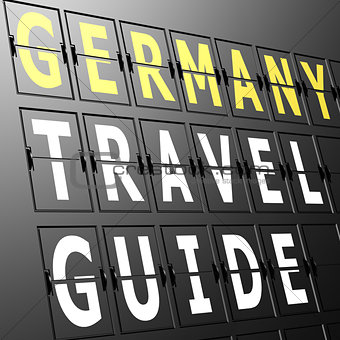 Airport display Germany travel guide