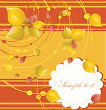 elegant autumn background with place for your text