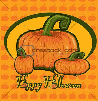 Card with  pumpkin