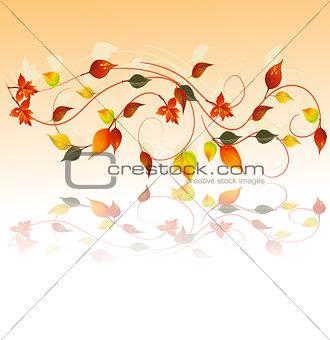 Autumn wallpaper, vector illustration