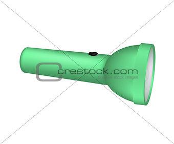 Flashlight in green design