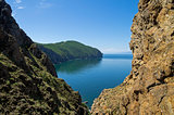 A cleft in the cliffs. Lake Baikal, Russia.