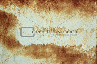 Painted rusty metal surface