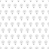Vector seamless pattern or tile texture with dark doodle hand drawn light bulbs on white background