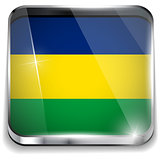 Brazil Flag Square Yellow Green Blue Background