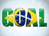 Brazil 2014 Goal Soccer Letters with Brazilian Flag