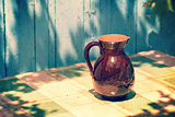 Vintage Retro jug on a table