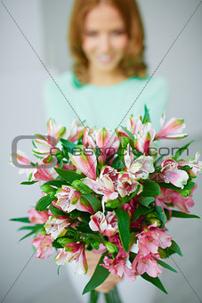 Showing bouquet