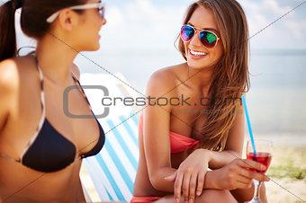 Girls resting