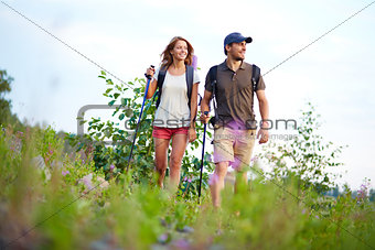Hiking together