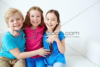 Affectionate kids