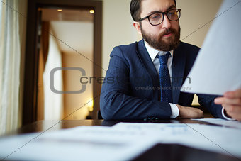 Businessman with paper