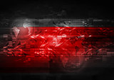 Bright red abstract background
