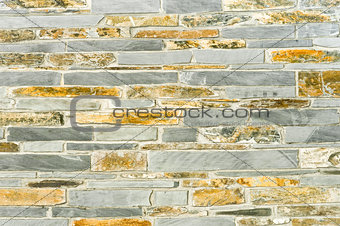 slate and stone wall