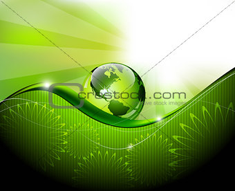 Green Earth abstract fantasy background