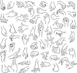 Man Hands Pack Lineart