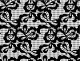 vector black lace seamless pattern