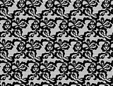 vector Lace black seamless pattern