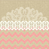 two seamless pattern and lace trim.