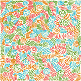 vector Seamless abstract hand-drawn waves swirl pattern