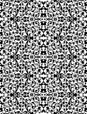 White lace pattern on black, abstract seamless vector ornament