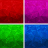 Set of abstract modern style triangle backgrounds