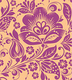 Vintage floral seamless pattern. Vector.